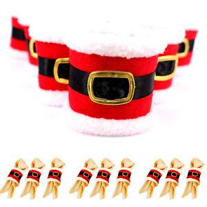 Christmas santa buckle clothing napkin ring serviette - Serviette table tissu ...