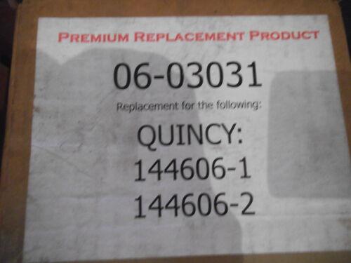 PREMIUM REPLACEMENT FILTER ELEMENT 06-03031 Xref: QUINCY 144606-1 // 2 NEW