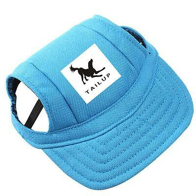 Floral Dog Sun Hat For Cat Baseball Visor Cap Puppy Pet Topee Oxford Bonnet S M