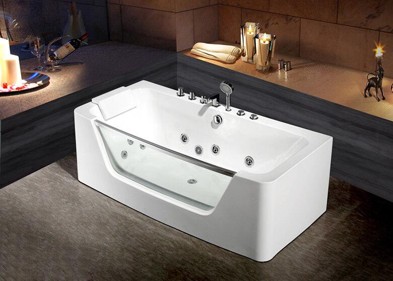 Whirlpool De Luxe Baignoire Bain A Piscine Remous Acrylique Piscine
