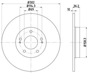 2 x Textar Bremsscheibe PRO HA für CitroenC4 Outlander Peugeot 4008-92267403