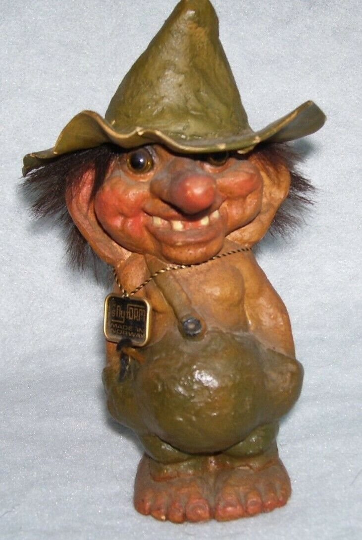 Norwegian Troll, Handcrafted Nyform No. 117 with tags, Man with Floppy Hat, 7