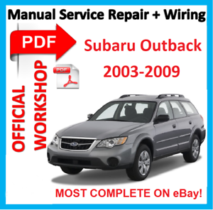 offi workshop manual service repair for subaru legacy liberty rh ebay com 2009 subaru outback owners manual 2009 subaru outback owner's manual pdf
