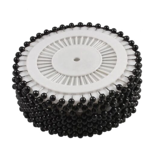 Black White Berry Pins Wheel Pearlised Ball Top Scarf Craft Sewing Pins DIY SEW
