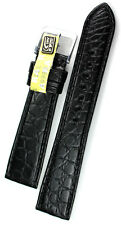 19mm /16 flach ECHT ALLIGATOR BAND mad GERMANY Louisiana KROKOBAND Strap Uhrband
