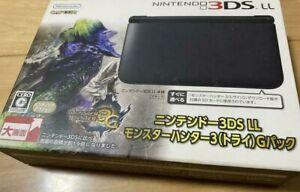 Nintendo 3DSLL Monster Hunter G Tri Pack Handheld System Limited Production