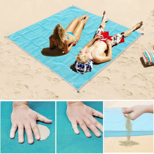 """79/""""X 79/"""" Sand-Free Beach Mats Sand Proof Rug Picnic Blanket For Camping Outdoor"""