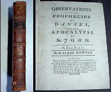 Isaac Newton Erstausgabe London 1733: Observations upon the Prophecies of Daniel
