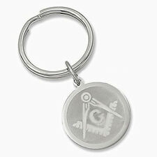 Mason Compass and square Key Chain metal keychain w// belt clip MAS108