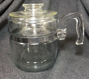 Coffee Pot Stains Cleaning : Pyrex Glass 6 Cup Coffee Pot Percolator # 7756 Complete Vintage Clean eBay