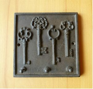 Hakenleiste Gusseisen Schlüsselform Schlüsselleiste antik Haken Schlüsselboard