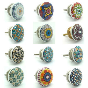 NEW Ceramic Door Knobs Vintage Shabby Chic Cupboard Pull Handles