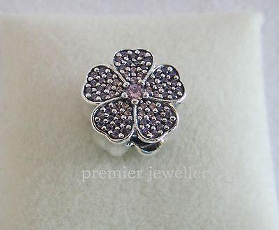 Genuine Authentic Pandora Silver Sparkling Primrose Pink CZ Charm 791481PCZ