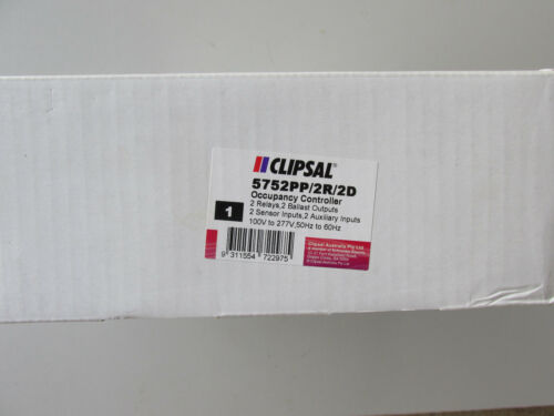 Clipsal by Schneider 5752PP//2R//2D Occupancy Controller Input 100-277V NEW in Box