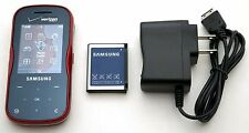 Samsung Trance SCH-U490 Verizon Slider Cell Phone BT GPS MP3 Music 1.3MP Web RED