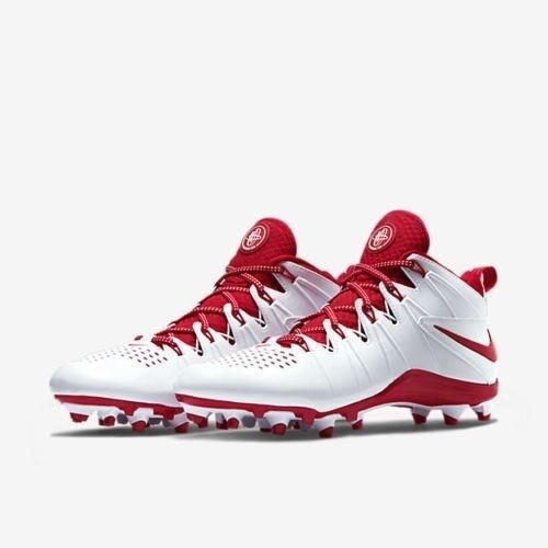0b6020034 Nike Huarache 4 LX Mens Lacrosse Cleats Lax Football - White   Red ...