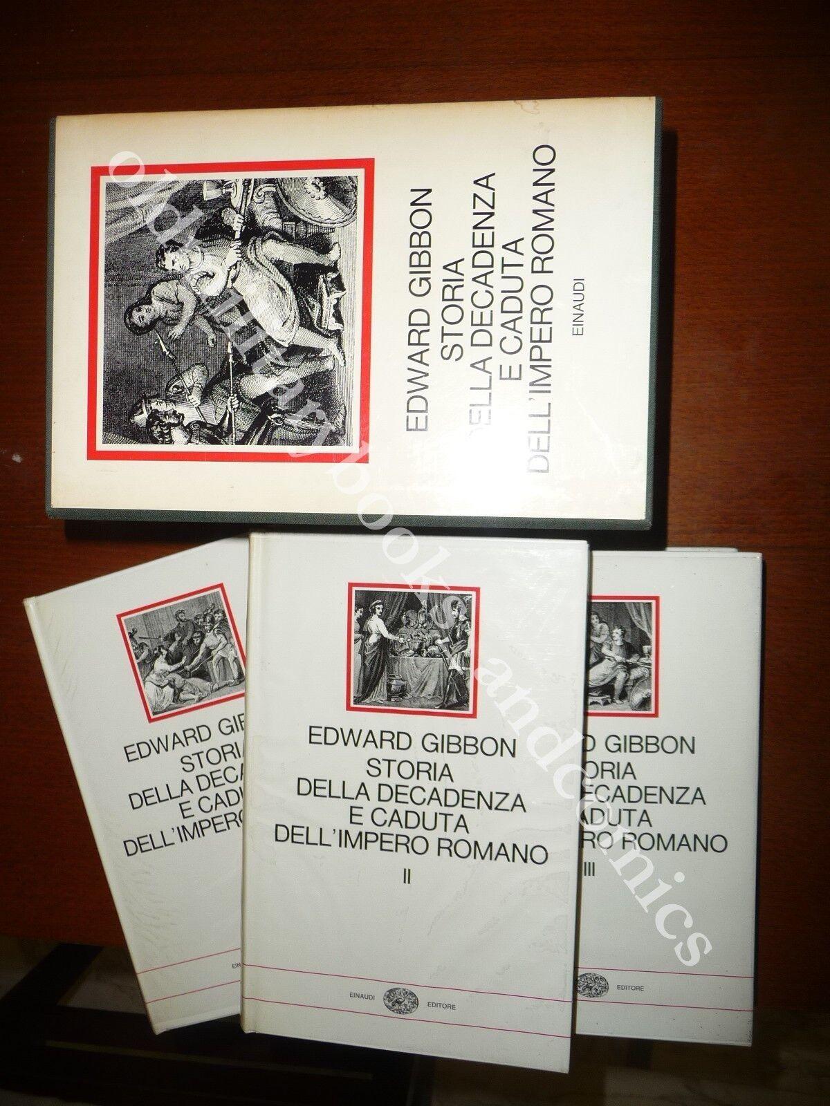 STORIA DELLA DECADENZA E CADUTA DELL'IMPERO ROMANO EDWARD GIBBON EINAUDI 1967 I^