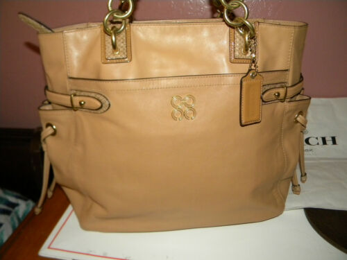 COACH  MADISON  TAN SOFT LEATHER  LARGE TOTE/SATCH