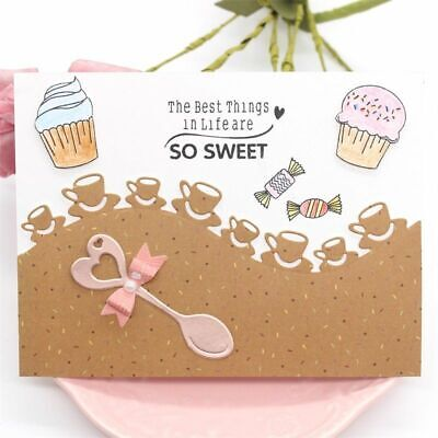 Coffee Cafe Metal Cutting Dies or Stamps For DIY Scrapbooking Album Card Making