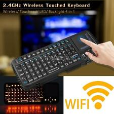2.4G Mini Wireless Keyboard Mouse Touchpad with LED Backlight fr PC Smart TV Box