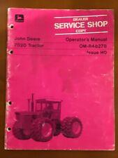 John Deere 7020 Tractor Operators Manual Om R48278 Issue H0