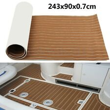 94''x35'' 7MM Self Adhesive Light Brown EVA Boat Yacht Teak Decking Sheet Pad