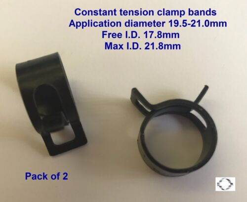 21.0mm  x 2 CONSTANT TENSION CLAMP BAND CTC10178 Min.19.5-Max