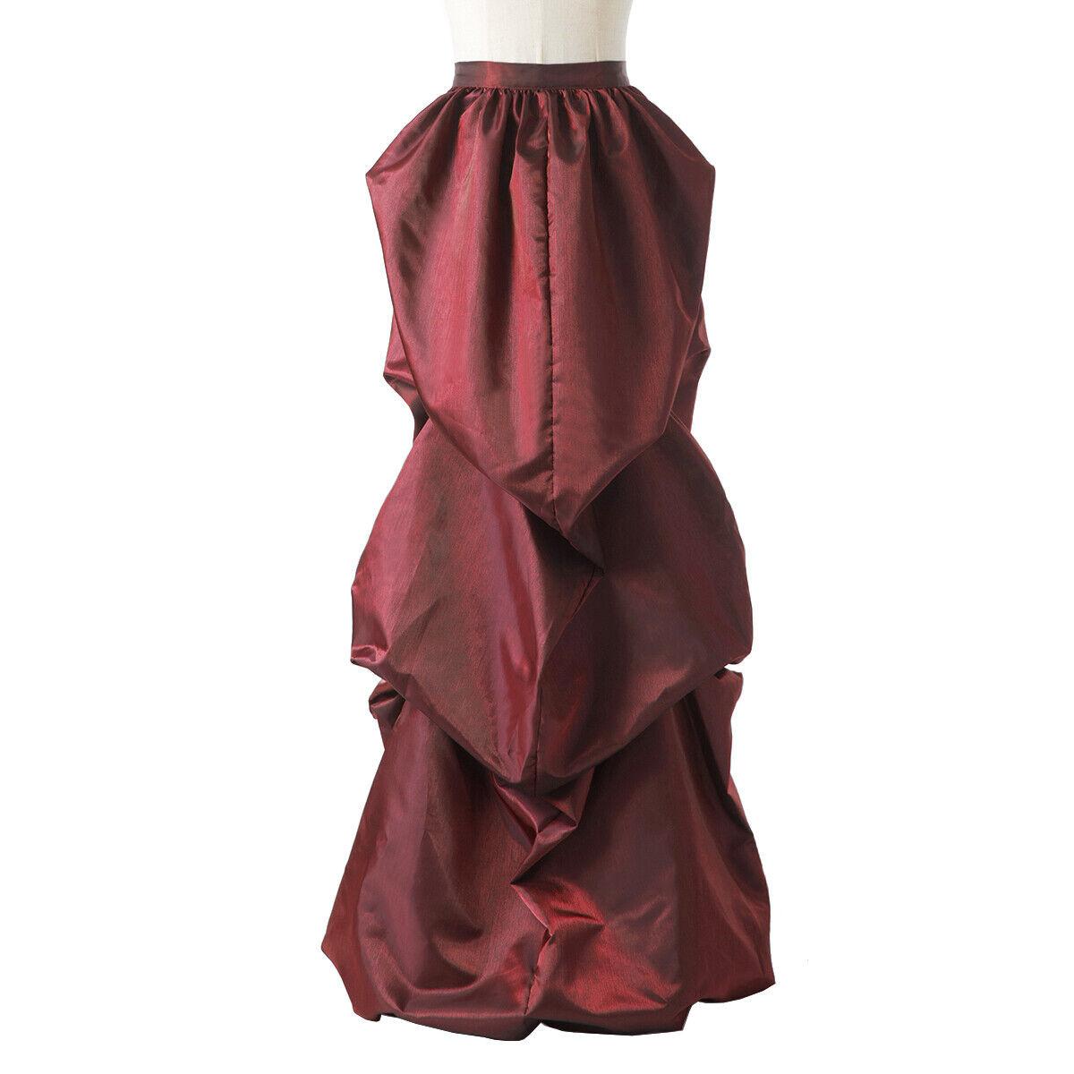 Vintage Victorian Edwardian Bustle Skirt Fancy Dr… - image 2