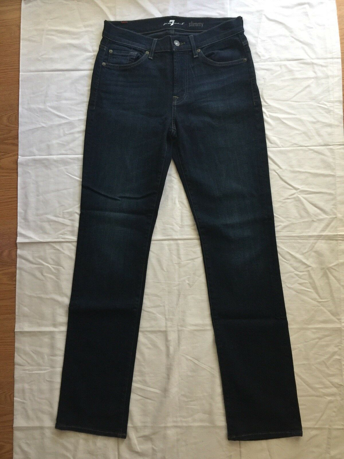 7 For All Mankind Womens Slimmy bluee Stretch Jeans Size 29 NEW