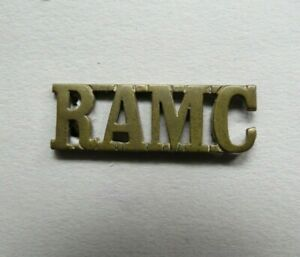 Military-Brass-Shoulder-Title-RAMC-Royal-Army-Medical-Corps-British-Army