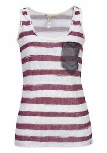Key-Largo-Camiseta-de-tirantes-Isabelle-Cuentas-DETALLES-DE-ENCAJE-NUEVO-XL