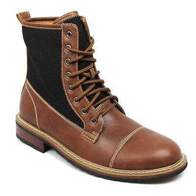 Mens Boots Hight Top Cap Toe Lace Up Leather Lining Modern Polar Fox 808565 NEW