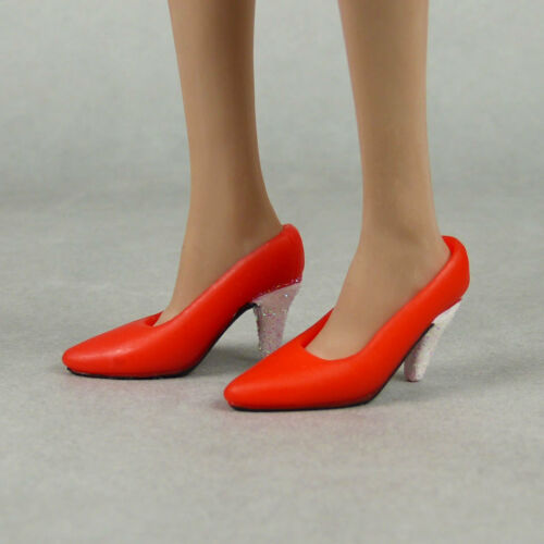 Female Red Shoes w// Glitter Heels Cy Hot Toys TC 1//6 Scale Phicen Kumik