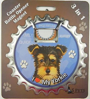 Maltese dog coaster magnet bottle opener Bottle Ninjas magnetic