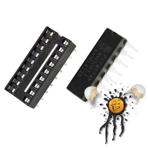 PCF8574P PCF8574 I2C 2 wire SCL SDA Bus Expander 2,5-6V 8-bit inkl Stecksockel
