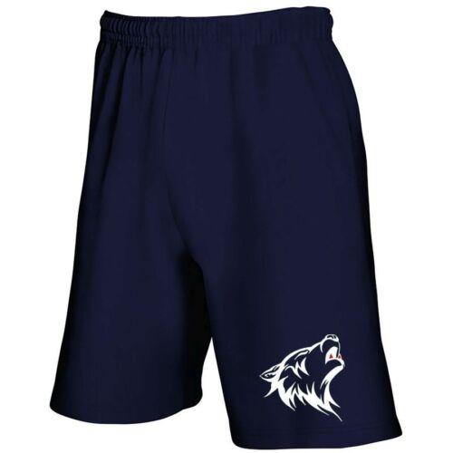 Hommes Femmes Sport Loisirs Shorts Bermuda Cargo Capri pantalon court Loup Loups NEUF