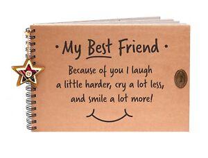my best friend scrapbook photo album memory book keepsake hen