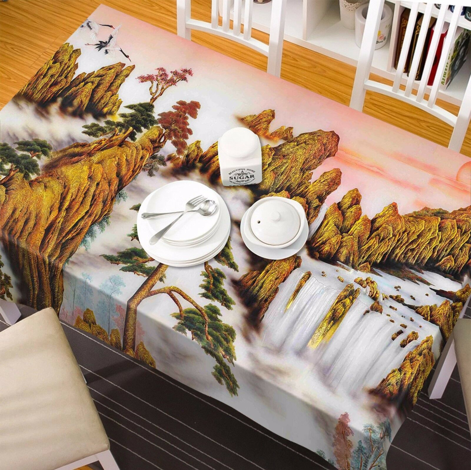 3D Sunset 51 Tablecloth Table Cover Cloth Birthday Party AJ WALLPAPER UK Lemon
