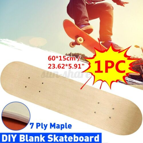 "1//2PCS Blank Skateboard Decks 7-Layer Maple 23/"" Double Concave Natural Skate Pro"