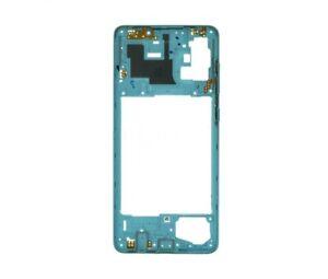 Rahmen Mittlere Gehäuse Body Zentrale Für Samsung Galaxy A71 Blau