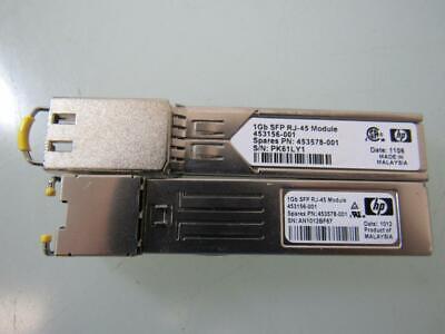 453156-001 453578-001 453154-B21 HP VIRTUAL CONNECT 1Gb RJ-45 SFP New HP