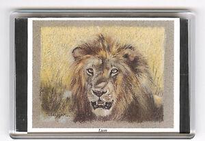 LION LARGE FRIDGE MAGNET