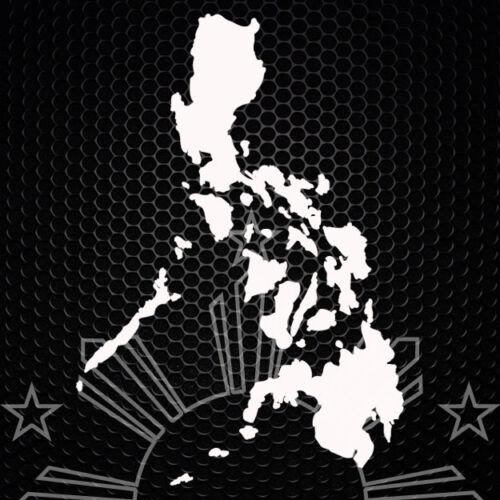 "Philippine Islands 6/""x 4/"" White Window Decal"