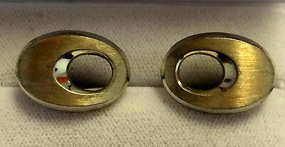 Elegante ManschettenknÖpfe Aus 835 Silber Teils Vergoldet Aus Den 70er Jahren