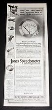1915 OLD MAGAZINE PRINT AD, JONES AUTOMOBILE SPEEDOMETER, CENTRIFUGAL PRINCIPAL!
