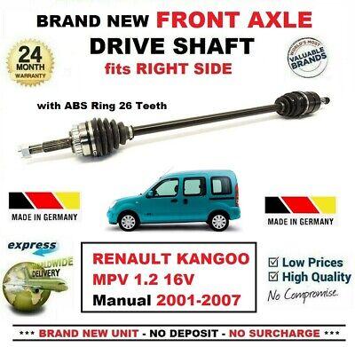 NEW 2000/>ON RENAULT KANGOO 1.9TD DRIVESHAFT O//SIDE