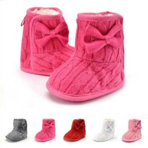 Toddler-Baby-Kids-Boys-Girls-Winter-Warm-Soft-Sole-Crib-Shoes-Snow-Boots-Shoes