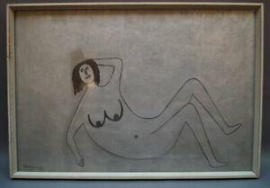 Peter M. Bauer (1946-2020) - Art Brut - Naive Kunst - Weiblicher Akt 1967 PB108