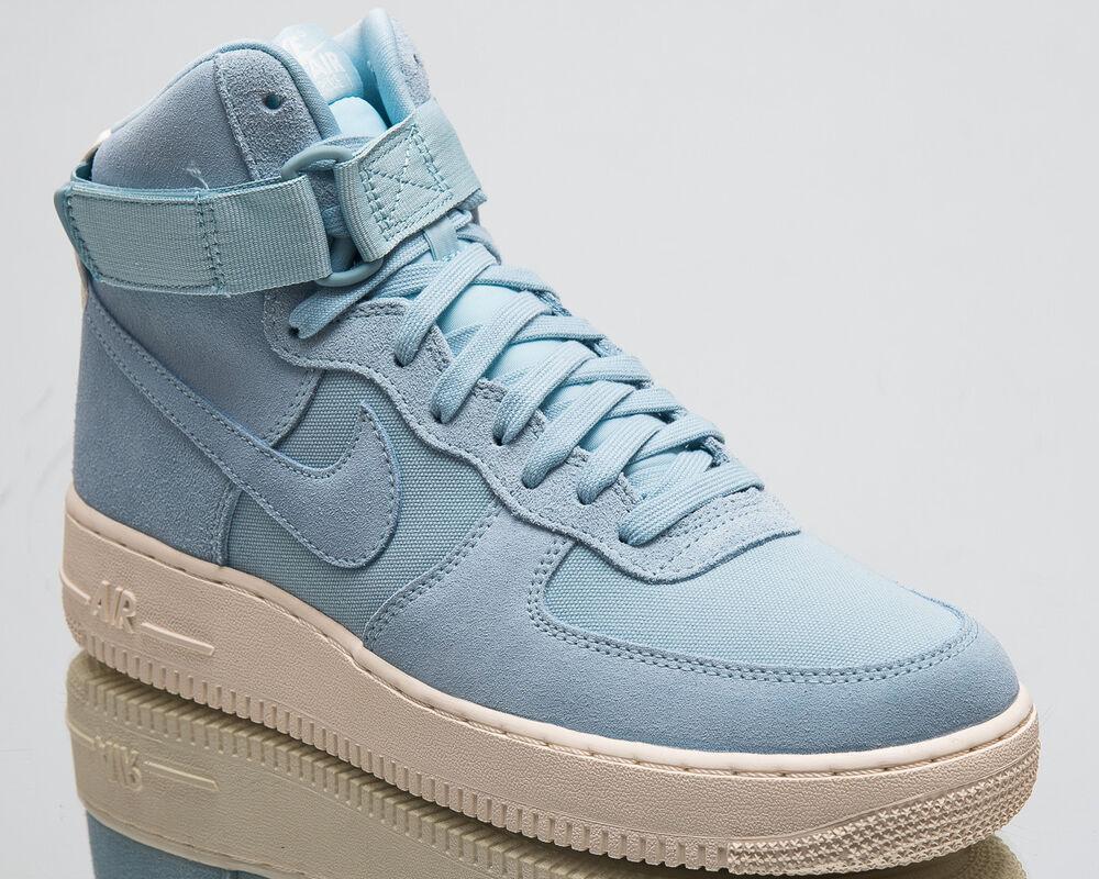 Nike Air Force 1 High '07 Suede Men NOUVEAU Sneakers Ocean Bliss Sail AQ8649-400 Chaussures de sport pour hommes et femmes