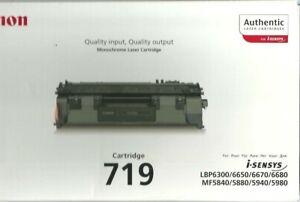 CANON-719-toner-noir-2-100-pages-NEUF-dans-carton-d-039-origine-Date-01-2014
